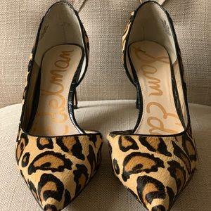 Sam Edelman Onyx Leopard Print Heels